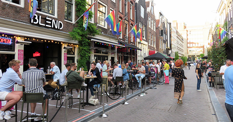 Reopened bars in Reguliersdwarsstraat