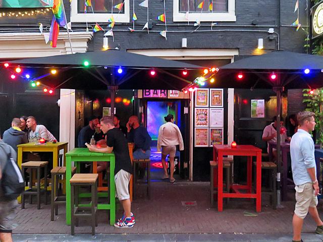 Het Exit-Café in de Reguliersdwarsstraat
