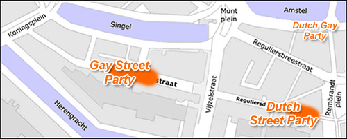 King's Day street parties @ Reguliersdwarsstraat