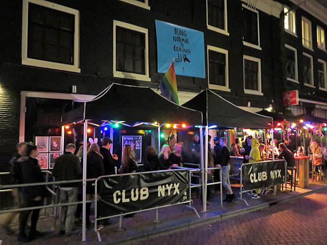 Club NYX in de Reguliersdwarsstraat